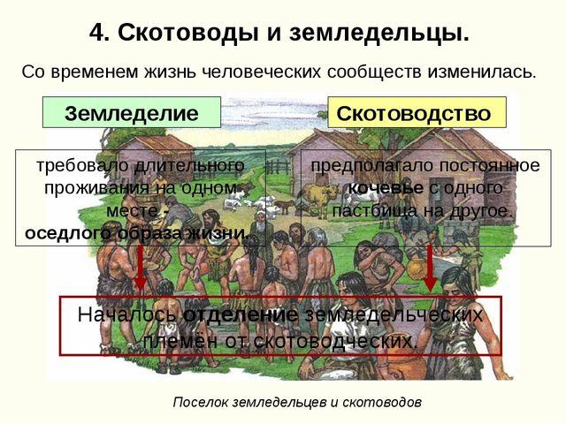 4. Скотоводы и земледельцы. требовало длительного проживания на одном месте -...