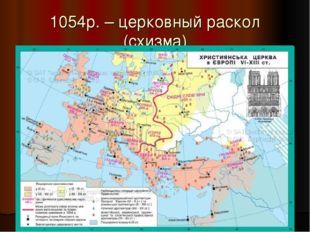 1054р. – церковный раскол (схизма)