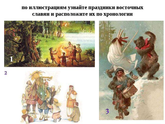по иллюстрациям узнайте праздники восточных славян и расположите их по хронол...