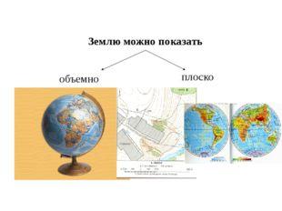 Землю можно показать объемно плоско