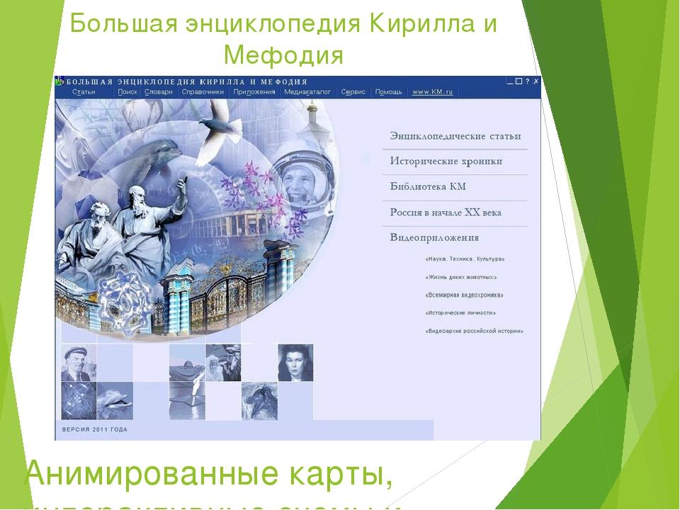 Большая энциклопедия Кирилла и Мефодия Анимированные карты, интерактивные схе...