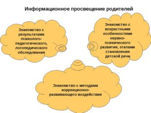 Знакомство с результатами психолого-педагогического, логопедического обследов