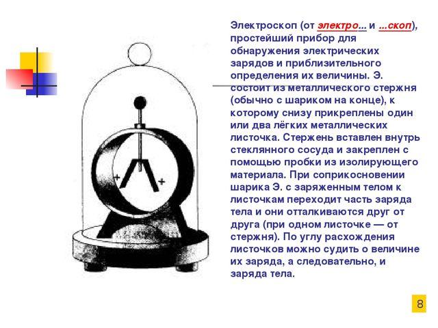 Электроскоп (от электро... и ...скоп), простейший прибор для обнаружения элек...