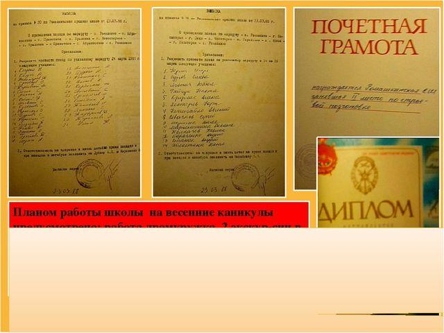 Планом работы школы на весенние каникулы предусмотрено: работа драмкружка, 2...