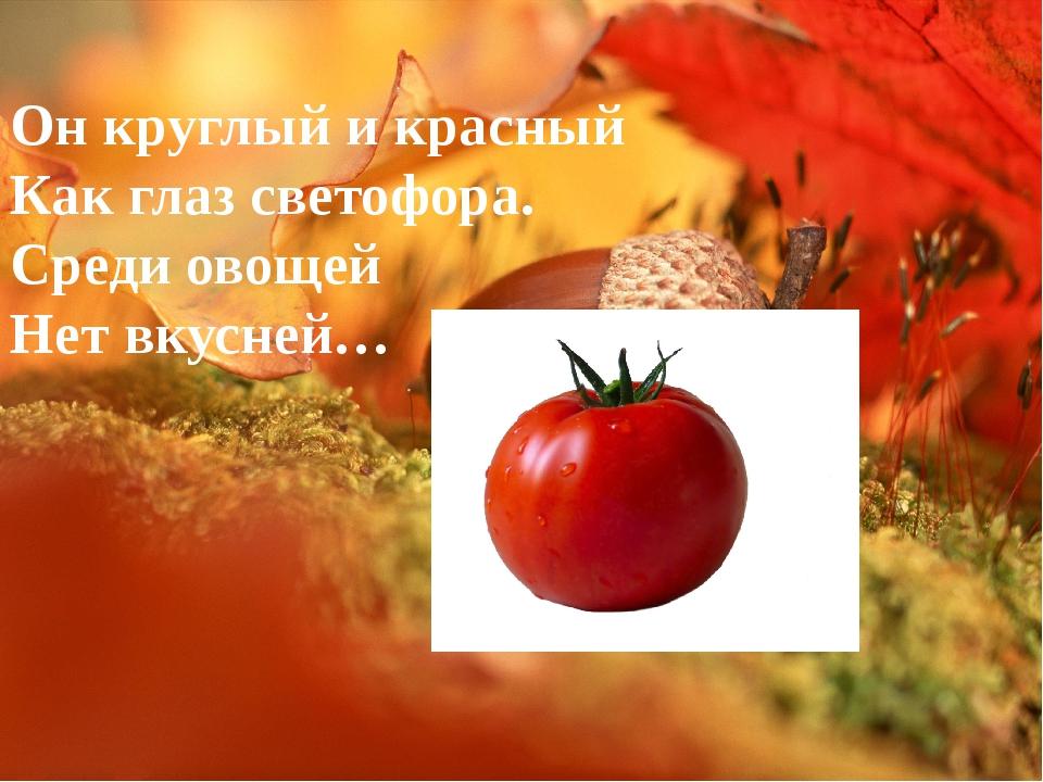 Он круглый и красный Как глаз светофора. Среди овощей Нет вкусней…