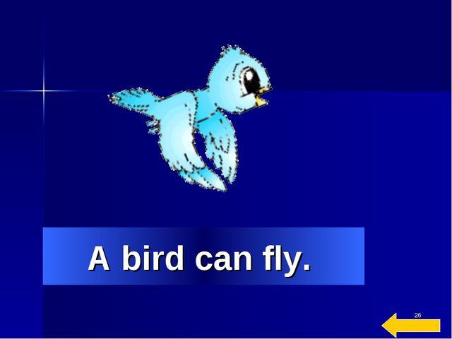 * A bird can fly.