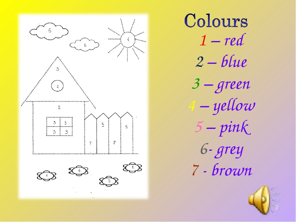 * 1 – red 2 – blue 3 – green 4 – yellow 5 – pink 6- grey 7 - brown
