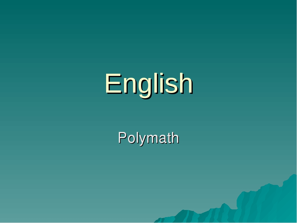 English Polymath