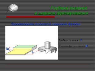 Глубина резания и ширина фрезерования Фрезерование плоскости торцовой фрезой