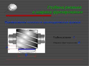 Глубина резания и ширина фрезерования Фрезерование плоскости цилиндрической ф
