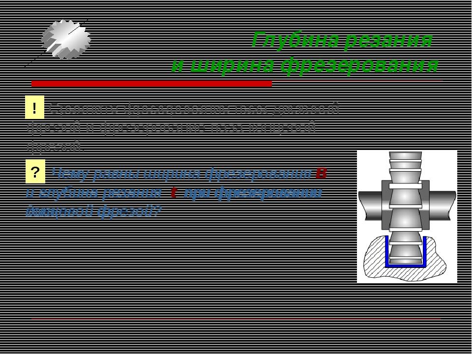 Глубина резания и ширина фрезерования Сравните фрезерование паза дисковой фре...