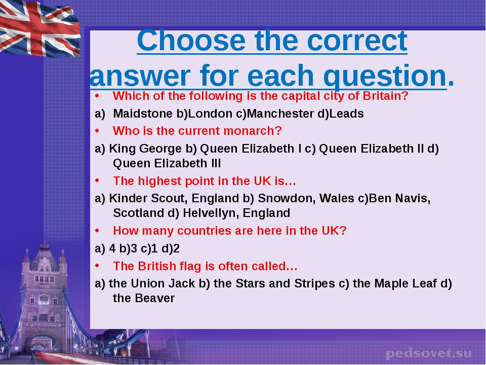 Choose the correct answer for each question. Which of the following is the ca...