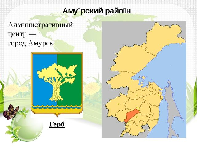 Аму́рский райо́н Административный центр— город Амурск. Герб