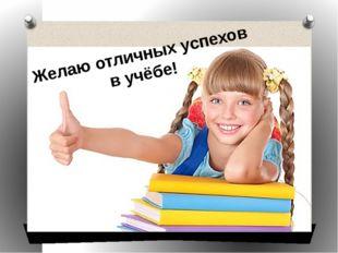 Желаю отличных успехов в учёбе!