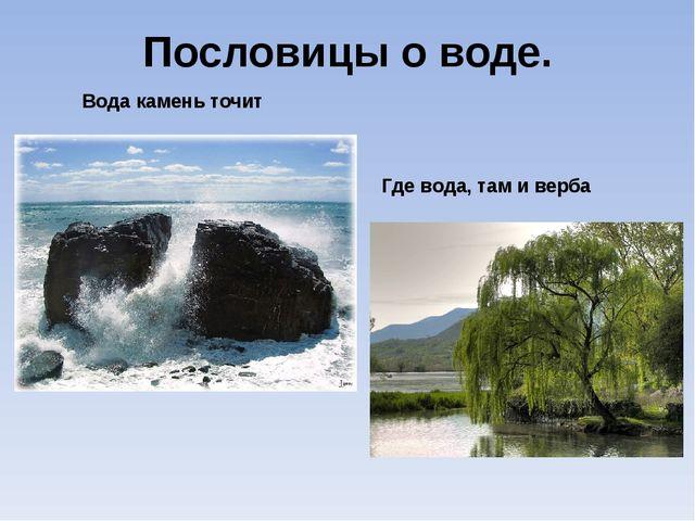 Пословицы о воде. Вода камень точит Где вода, там и верба