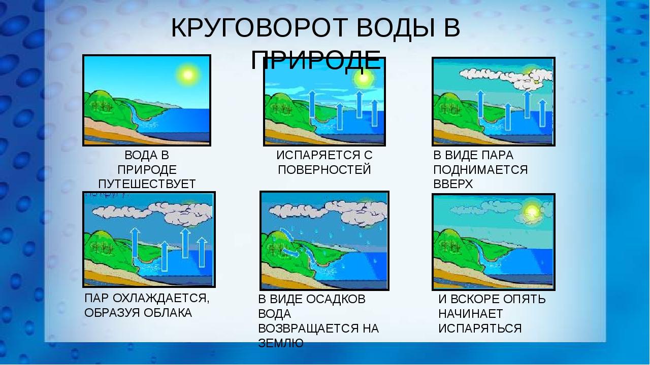 Картинка круговорот воды в природе для школьников