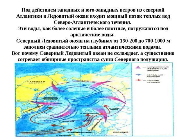 Под действием западных и юго-западных ветров из северной Атлантики в Ледовиты...