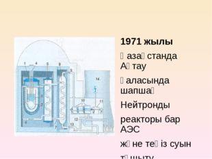 1971 жылы Қазақстанда Ақтау қаласында шапшаң Нейтронды реакторы бар АЭС және