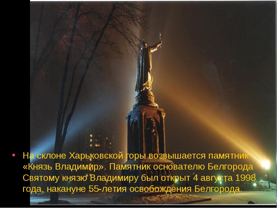 На склоне Харьковской горы возвышается памятник «Князь Владимир». Памятник ос...