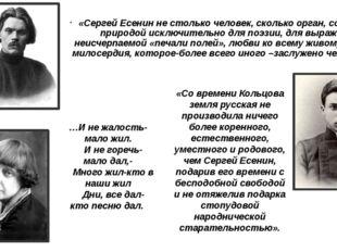 «Сергей Есенин не столько человек, сколько орган, созданный природой исключит