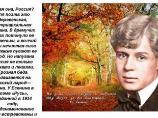Какая она, Россия? Для поэта это деревенская, патриархальная страна. В дремуч