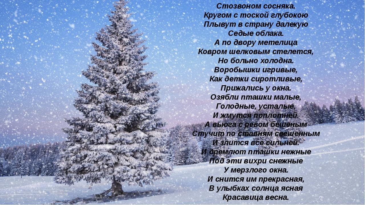 Поет зима - аукает, Мохнатый лес баюкает Стозвоном сосняка. Кругом с тоской г...