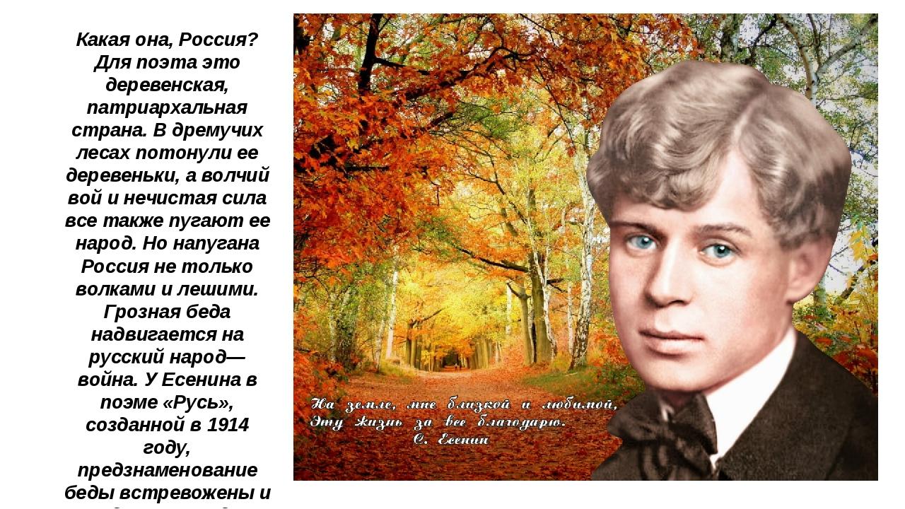 Какая она, Россия? Для поэта это деревенская, патриархальная страна. В дремуч...