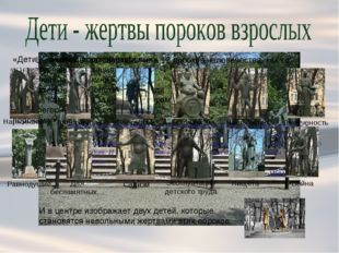 «Дети — жертвы пороков взрослых» — скульптурная композиция Михаила Михайлович