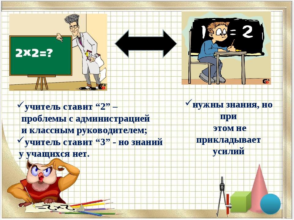 """учитель ставит """"2"""" – проблемы с администрацией и классным руководителем; учит..."""