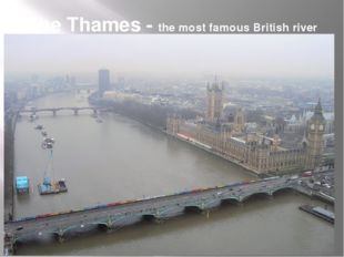 The Thames - the most famous British river