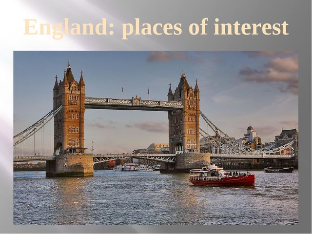 England: places of interest