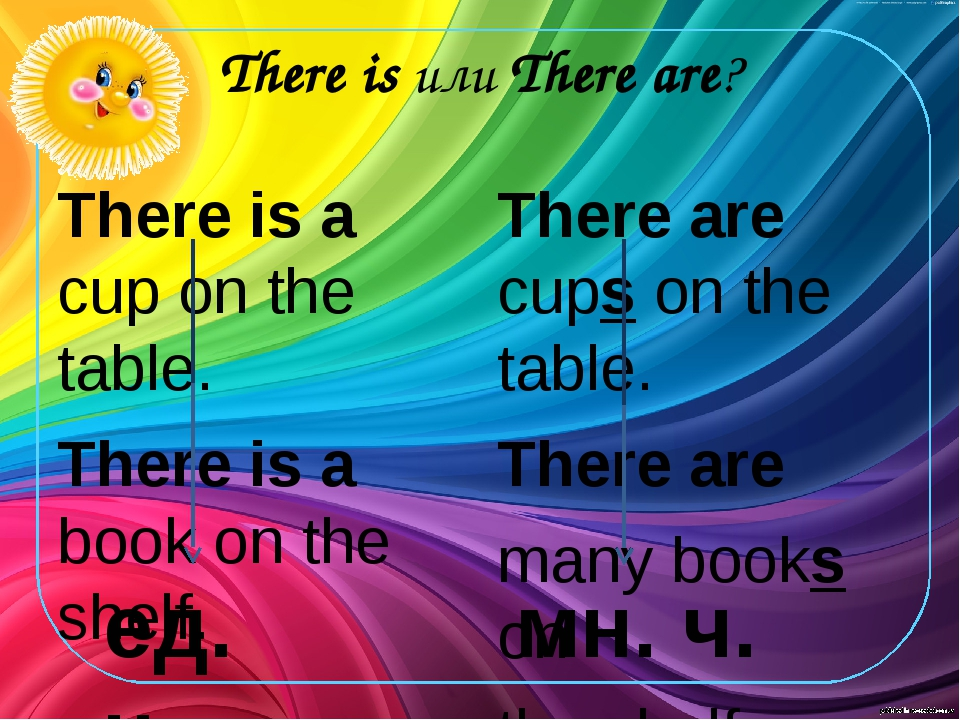 There is или There are? There is a cup on the table. There is a book on the s...