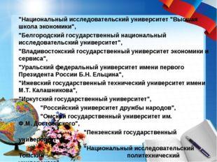 """""""Национальный исследовательский университет """"Высшая школа экономики"""", """"Белгор"""