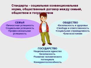 Стандарты - социальная конвенциональная норма, общественный договор между сем