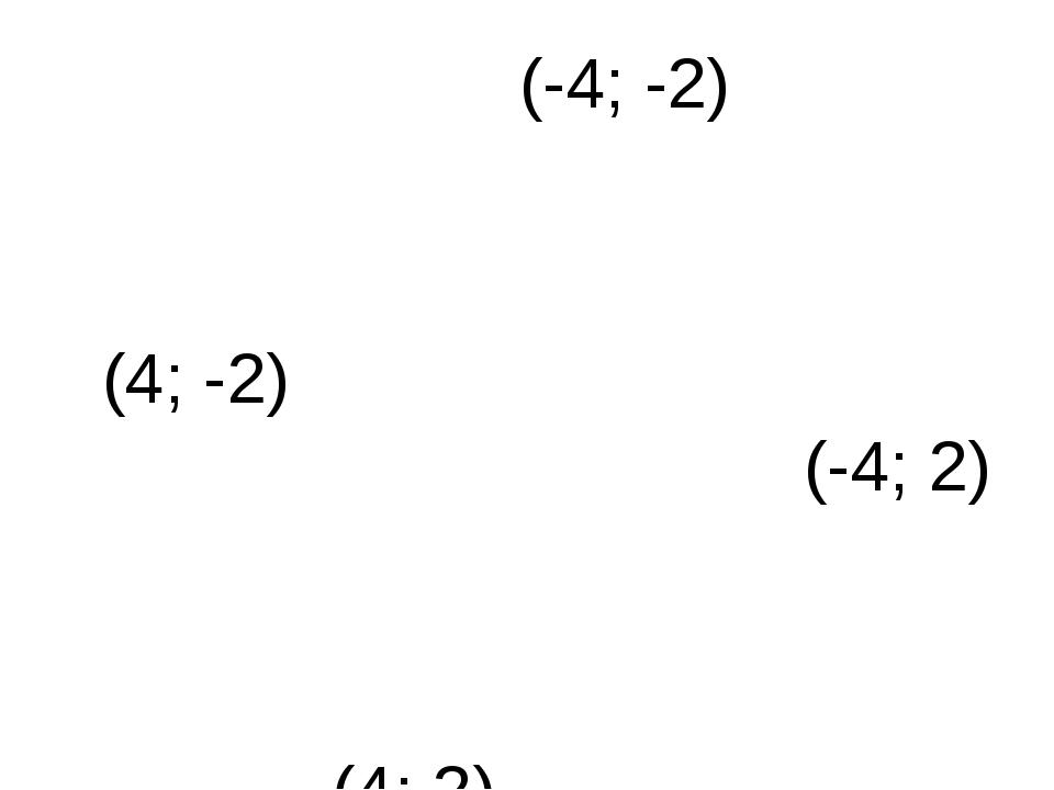 (-4; -2) (4; -2) (4; 2) (-4; 2)