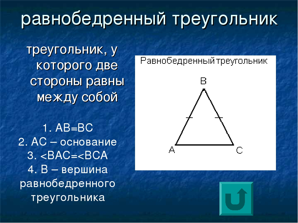 Картинки треугольник равнобедренный