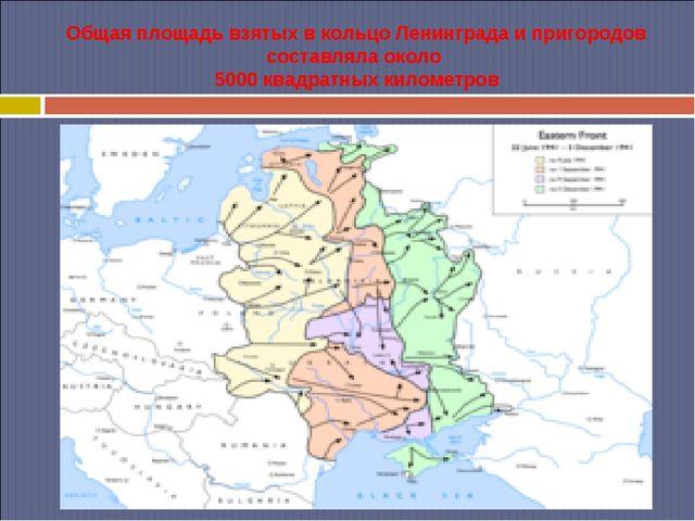 Общая площадь взятых в кольцо Ленинграда и пригородов составляла около 5000...