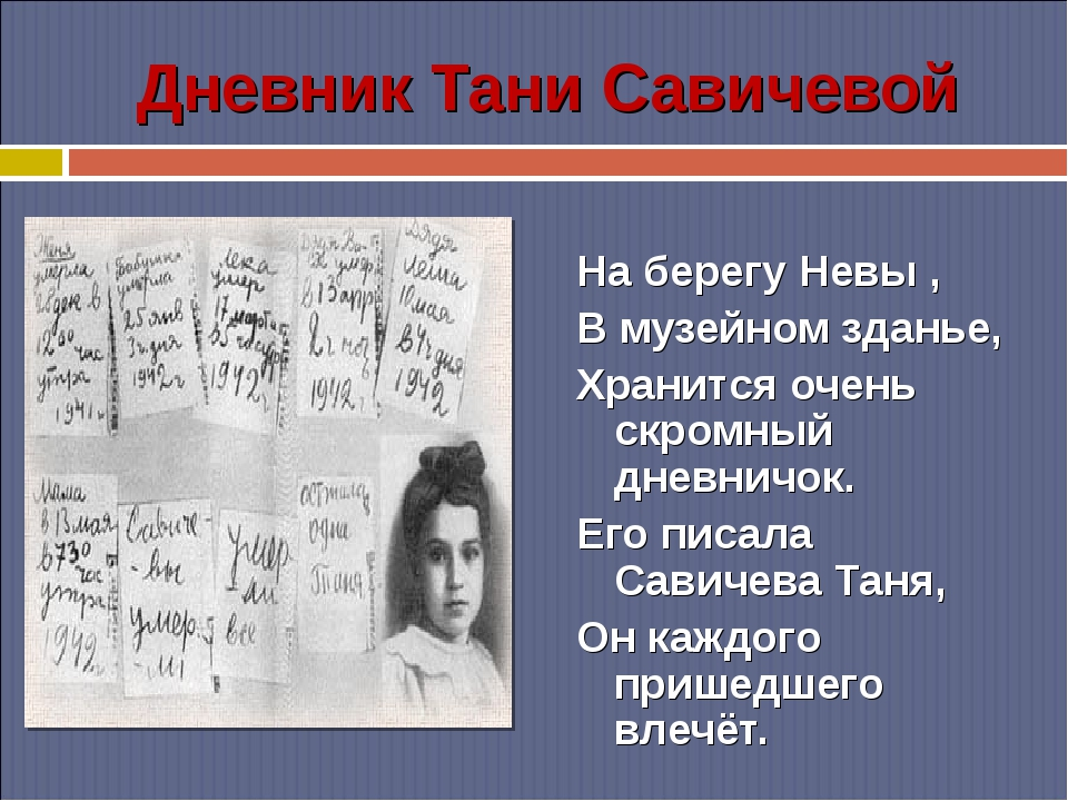 Дневник Тани Савичевой На берегу Невы , В музейном зданье, Хранится очень скр...