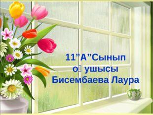 """11""""А""""Сынып оқушысы Бисембаева Лаура"""