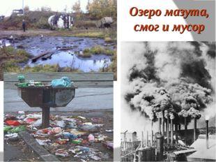 Озеро мазута, смог и мусор