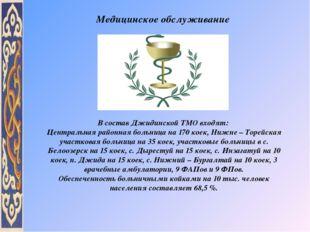 В состав Джидинской ТМО входят: Центральная районная больница на 170 коек, Ни