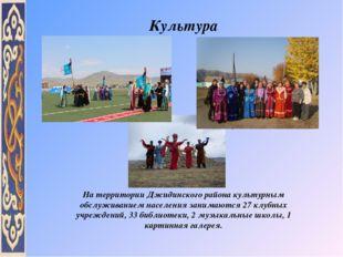 На территории Джидинского района культурным обслуживанием населения занимаютс