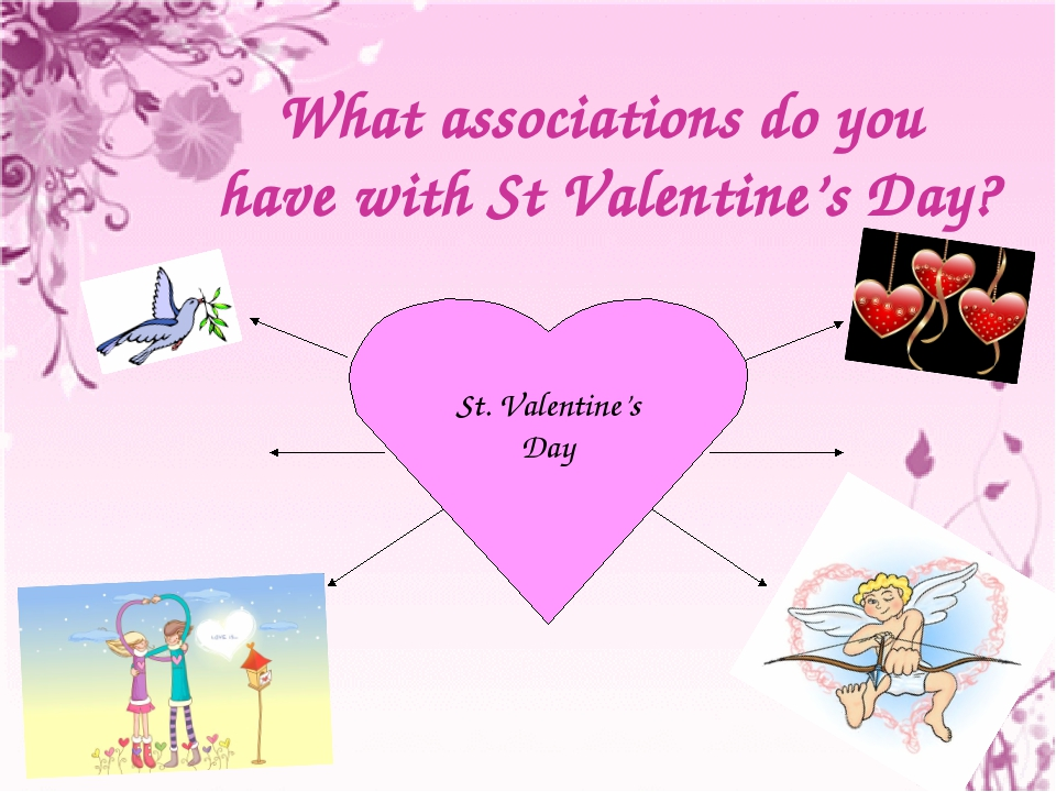 What associations do you have with St Valentine's Day?