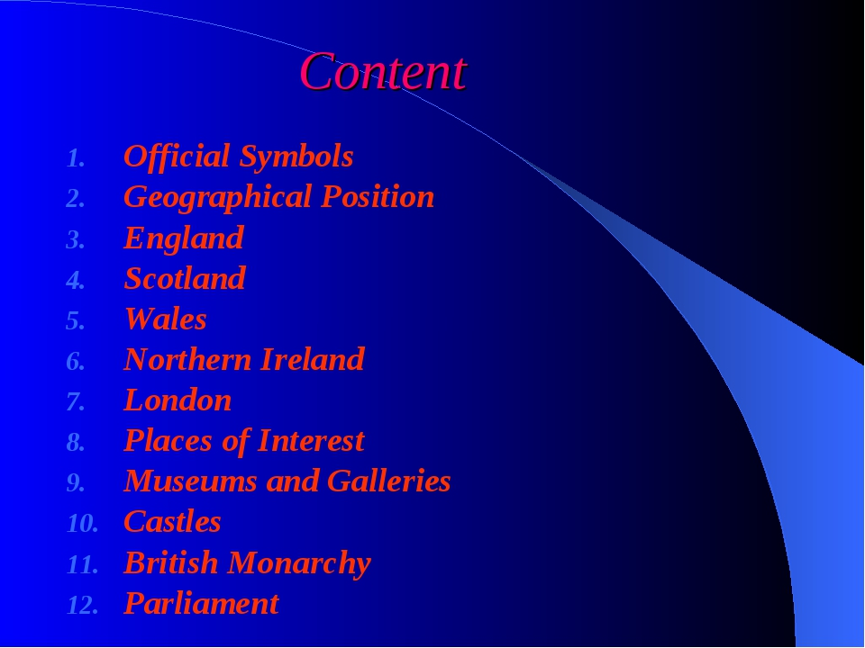 Content Official Symbols Geographical Position England Scotland Wales Norther...