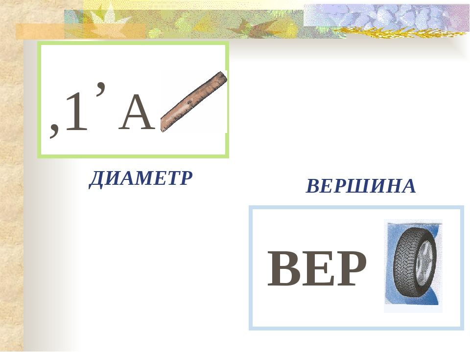 ,1 , А ВЕР ДИАМЕТР ВЕРШИНА