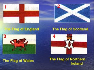 The Flag of Wales The Flag of England The Flag of Scotland The Flag of Northe