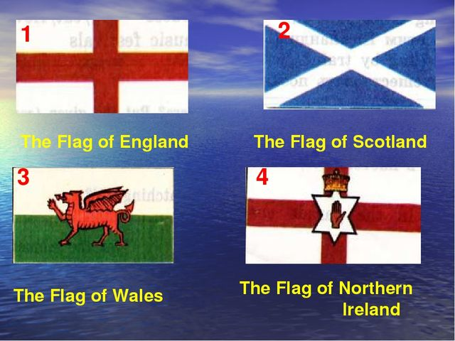 The Flag of Wales The Flag of England The Flag of Scotland The Flag of Northe...