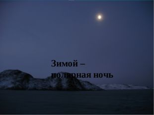 Зимой – полярная ночь