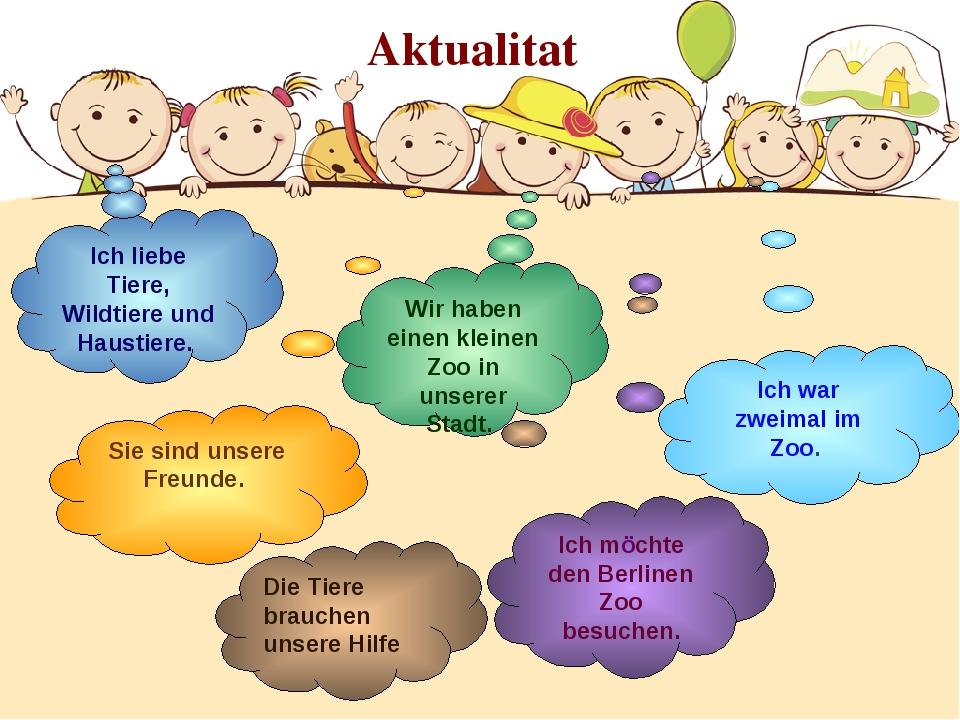 Aktualitat Ich liebe Tiere, Wildtiere und Haustiere. Ich möchte den Berlinen...