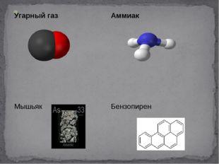Угарный газ Аммиак МышьякБензопирен